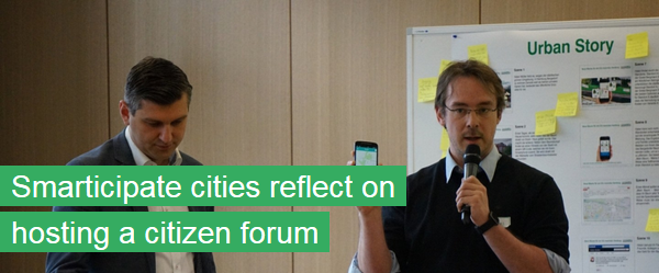 Smarticipate cities reflect on hosting a citizen forum