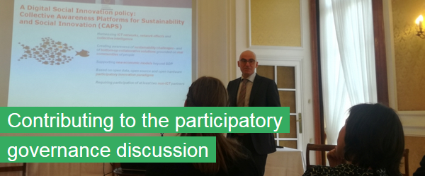 Contributing to the participatory governance discussion